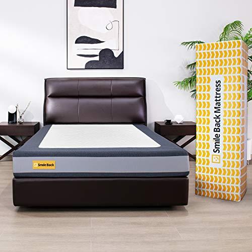 Smile Back Premium Schaum Matratze 140x200, Öko-Tex Zertifiziert, Härtegrad H2 & H3 Medium, langlebiger Komfort, Atmungsaktiver Bezug, Schaummatratzen in modern Design [ 140 x 200 x 20cm ]