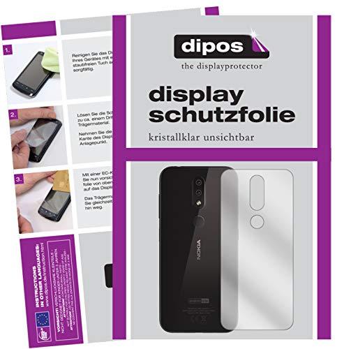 dipos I 2X Pellicola Protettiva per Nokia 4.2 Posteriore Pellicola di Protezione Cristallo
