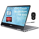 Samsung Notebook 9 Pro 2 in 1 Laptop, 15' FHD Touchscreen, 8th Gen Intel Quad-Core i7-8550U, 16GB DDR4 1TB SSD, 2GB AMD Radeon 540 Backlit KB USB-C Pen Win 10 + ePark Wireless Mouse