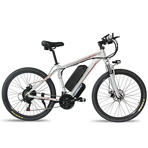 Bicicletta elettrica per adulti bici elettrica 26 'Mountain Fat bike elettrica 15 Ah / 10Ah Batteria al litio rimovibile Pieghevole freno a doppio disco 35 km / h Mountain bike, E-Bike da corsa da uom