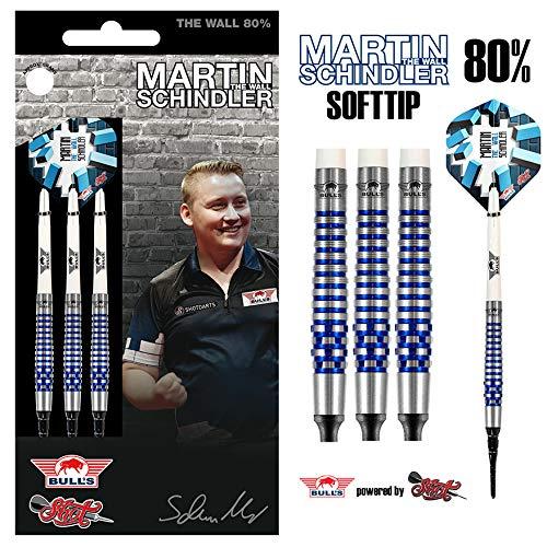 Bull's NL Softdartpfeil Martin Schindler The Wall 80% PCT Blue, 20 g