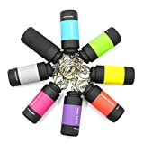 UCEC 8 Pack Mini USB Torch Rechargeable Colorful LED Flashlight High-Powered Keychain Lamp(Multicolor)
