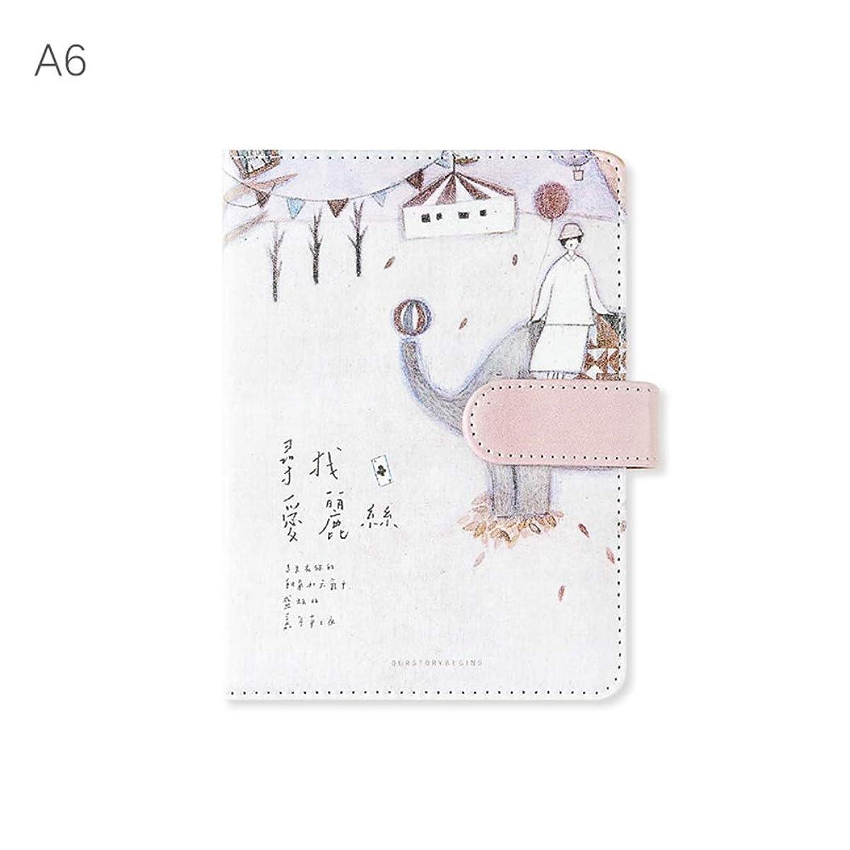 ノート,贈り物や個人的な使用に適した革磁気バックルクリエイティブカラーページのノートブック