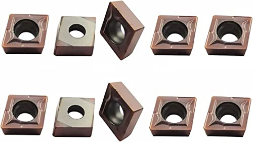 wholesale ASZLBYM 10PCS CCMT21.51 / CCMT060204 Carbide Turning discount Inserts for Processing Stainless,Steel,Cast Iron,Suitable for SCLCR Lathe outlet online sale Turning Tools Holder online