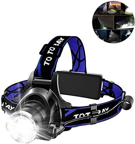 LUHUIYUAN Super helle LED-Scheinwerfer, LED-Scheinwerfer USB aufladbare IPX4 wasserdicht Taschenlampe Arbeits-Licht-Schutzhelm Licht für Camping, Wandern, Im Freien
