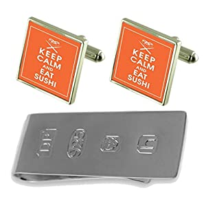 Select Gifts Sushi Cufflinks & James Bond Money Clip