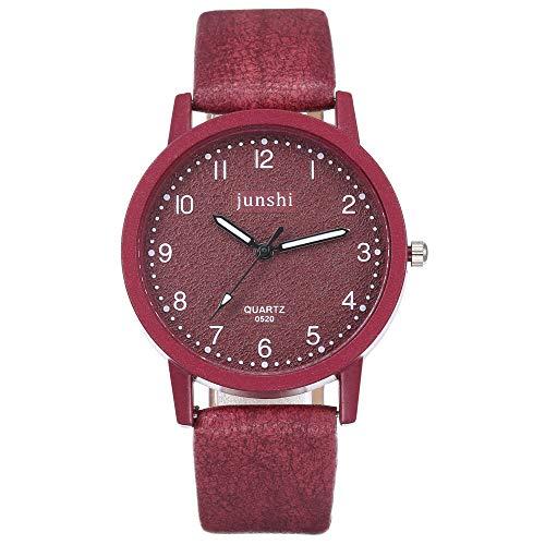 SoonerQuicker Uhr Armbanduhr Quartzuhr Frauen Uhren Mode Damenuhr Armbanduhren Analoge Quarz Lederband Wasserdicht Billig Geschäft Geschenke, Geschenke Für Frauen-27