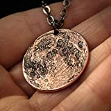 Copper Moon Necklace - Small | Lunar Reminder Large Coin Jewelry | 1' Solid Copper Pendant | Handmade by Shire Post Mint