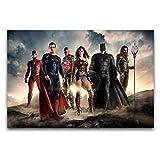 Zack Snyder - Póster de la Liga de la Justicia de Superman Batman de la película de Superman Pintura de la pared Decoración de cuadros de estudio de 30 x 45 cm
