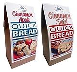 Rabbit Creek Quick Bread Mix Variety Pack of 2 – Cinnamon Apple Bread and Cinnamon Swirl Quick Bread Mix