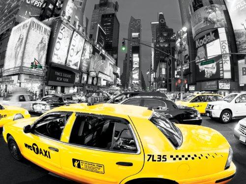 Pyramid International Times Square Rush Hour Digital Digital, Stampa su Tela, 60 cm x 80 cm