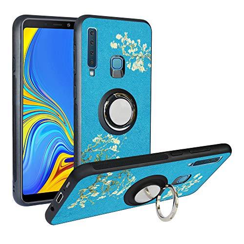 Alapmk Cover per Samsung Galaxy A9 2018, [Pattern Design] con 360 Magnetica per Auto, Custodia Protettiva TPU Protettiva Custodia Cover per Samsung Galaxy A9 (2018) /A9 Star PRO /A9s,Flower