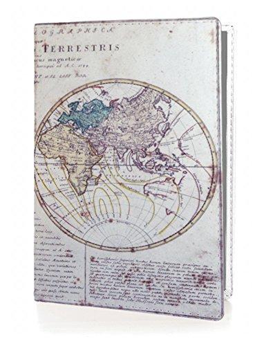 OPTEXX® RFID Reisepass-Hülle TÜV geprüft & zerifiziert | Alte Weltkarte | Ausweis-hülle | Schutzhülle | Schutz-Etui | Pass-hülle | aus Vegi Leder sicheres Blocking Passport