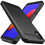 Osophter for Galaxy A01 Core Case,Galaxy M01 Core Case Shock-Absorption Flexible TPU Rubber Protective Cell Phone Cover for Samsung Galaxy A01 Core(Black)
