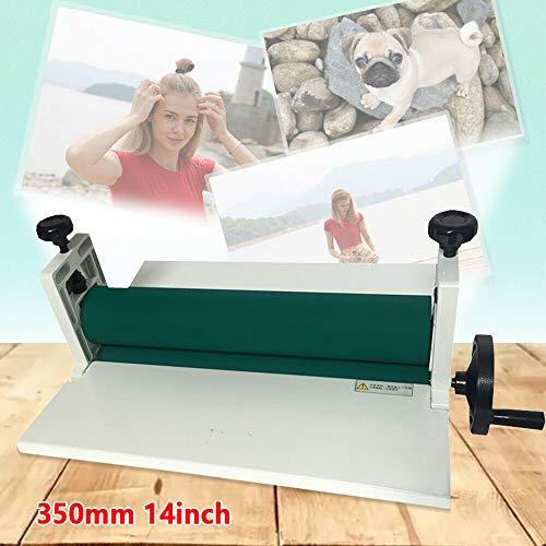 Plastificadora manual de 350 mm, laminadora en frío,...