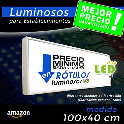 Rótulo luminoso led 100x40 cm, letrero luminoso led, cartel luminoso