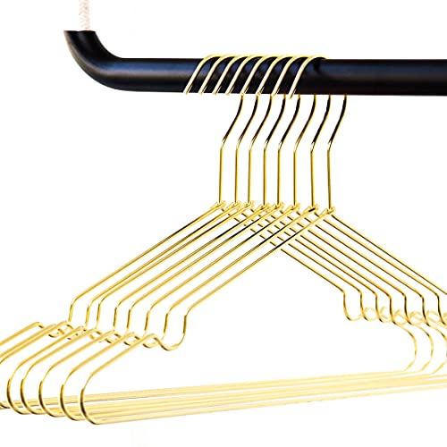 rod & knot - Grucce appendiabiti in metallo resistente, 8 pezzi, colore: oro gold