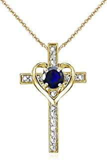 Best sapphire cross necklace yellow gold Reviews