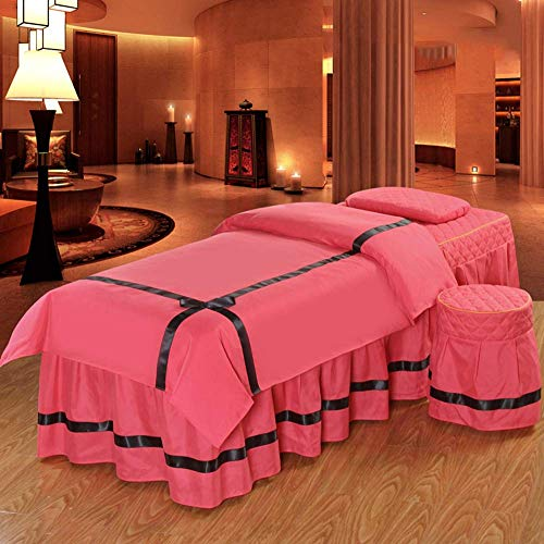 MRZHW 4-piece Microfiber Massage table sheet sets Thickened Anti-wrinkle Massage Bed cover Physiotherapy Bedspreads Breathable Washable-70x190cm(28x75inch) F1
