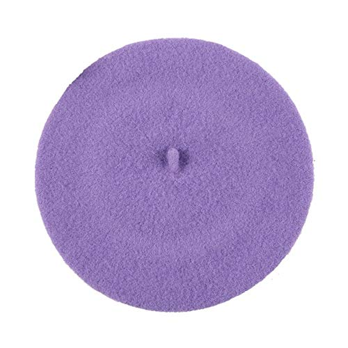 Sombrero de bebé de Moda para niñas, Color Caramelo, elástico, Boina de bebé, Gorro para niños, Gorras para niñas, 1 Pieza-Lavender