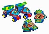 PAW PATROL - Caja con Roller 4 Ruedas, Talla 24-29 y Protecciones (Saica Toys 7474), 28.4 x 26.9 x 11.4