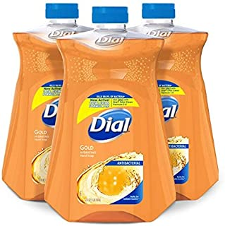 Dial Antibacterial Liquid Hand Soap Refill, Gold, 52 Fluid oz (Pack of 3)
