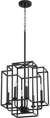 Quorum 6867-6-69 Contemporary Modern Six Light Pendant from Torres Collection in Bronze/Dark Finish