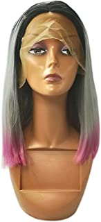 Remeehi Short Straight Bob Full Head Wigs None Lace Full Head Wig For Women 3T 8inch