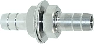 Beduan 3/8'' Hose Barb Thru-Bulk Bulkhead Straight Hex Union Stainless Steel Fitting