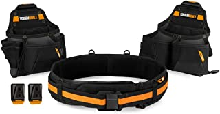 ToughBuilt – Tradesman Tool Belt Set – 3 Piece, Includes 2 Pouches, Padded..