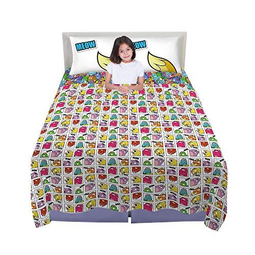 Franco Kids Bedding Sheet Set, 4 Piece Full Size, Hasbro Lost Kitties