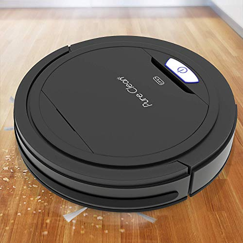 PURE CLEAN Vacuum Cleaner-Robotic Auto Home Clean Carpet Hardwood Floor-Bot Self Detects Stairs-Air Filter Pet Hair Allergies Friendly-PUCRC26B.9 (Renewed) Dining Features Kitchen Robotic Vacuums