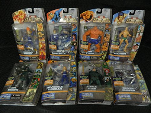 Marvel Legends Build A Figure Collection Complete Set of 8- Ronan The Accuser Series, 2007 image