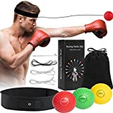 Boxing Reflex Ball - React Reflex Balls with Adjustable Headband and Carry Bag - Boxing Equipment for Agility, Punching Speed, Fight Skill and Hand Eye Coordination Training for Kids and Adults
