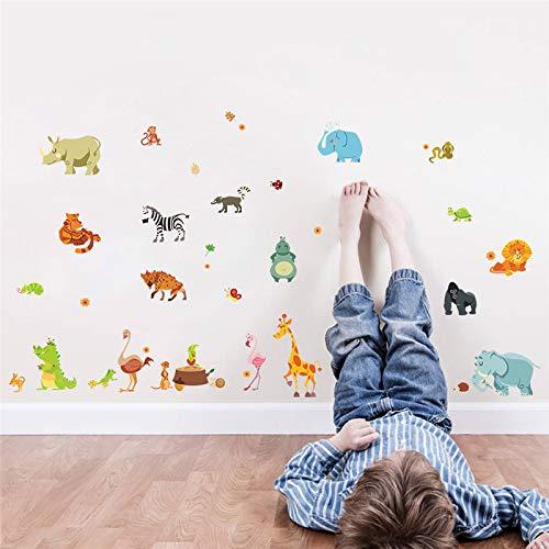 Sticker mural Forêt Aventure Animaux Safari Pépinière Chambres D'enfants Décor À La Maison Affiche Singe Stickers Papier