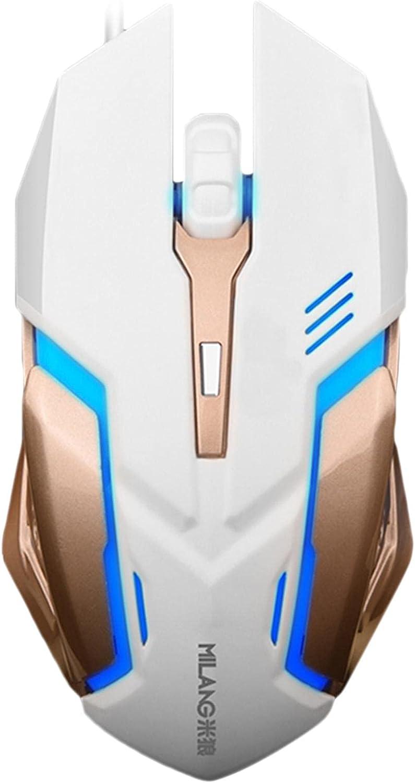 Manufacturer direct delivery Bouilloire Wired Game Regular dealer Mouse 800 Lumin 1200 DPI 1600 Adjustable