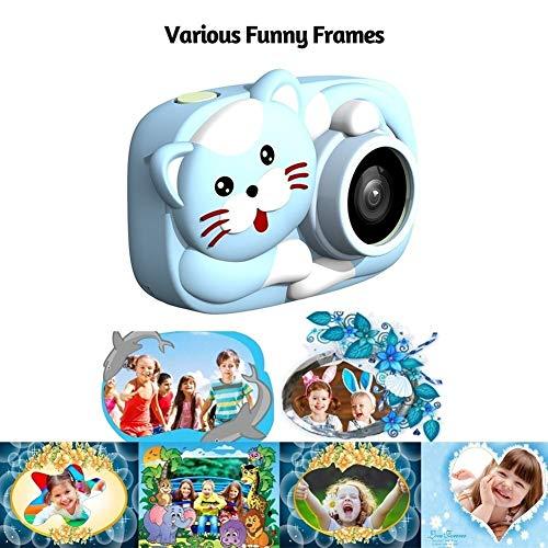 Minirok Digitale Camera Cartoon Kids 26MP 1080P Video Camera Camcorder 2,4 inch IPS scherm Drievoudige Camera Lens Rechargeable Shockproof CameraOtherAccessories (Color : Light blue)