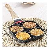 Lega di alluminio antiaderente Padella 4 disponibilità pentole frittura for Egg Pancake Steak Pan cucina for Fornello a gas Grill Skillet Pan