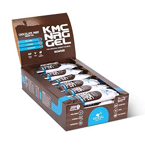 KMC NRG Gel: Smooth Chocolate Mint Energy Gel (24 x 70g) by Kendal Mint Co.