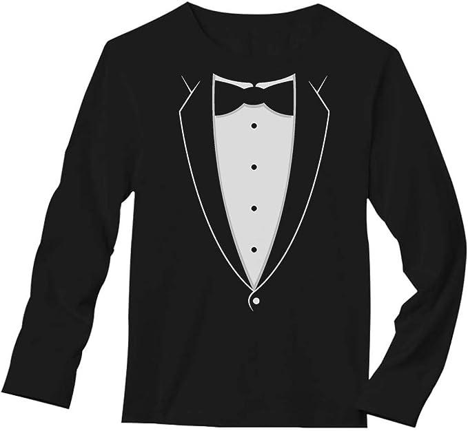 BOW TIE Ladies T-Shirt 8-16 White Funny Printed Novelty Costume Shirt Tuxedo