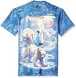 The Mountain Sunrise Polar Bear Coll Adult T-Shirt, Blue, Large