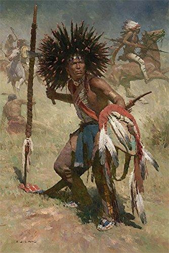The Collection Shop Z.S. Liang Lakota Sash Bearer 1848 Canvas