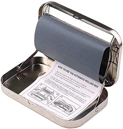 自動たばこ喫煙ローラーローリングメーカーボックスたばこインジェクターメーカーローラーたばこ充填機たばこローラーボックス収納ボックスシルバー(シルバー)