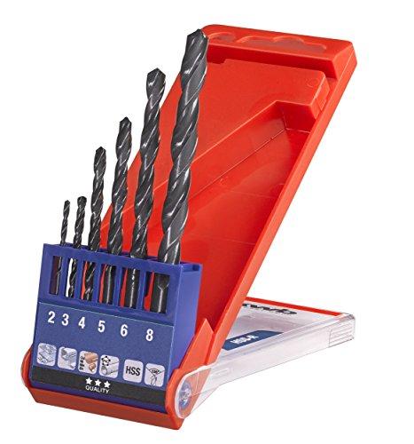 kwb HSS Metallbohrer-Set – Spiralbohrer-Satz für Metall, 6-teilige Werkzeug-Box