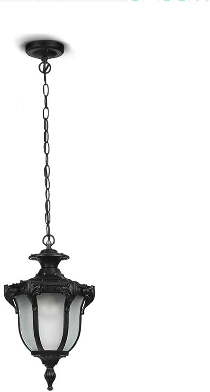 Chandelier-S SZQ Wasserdichter Leuchter, Balkon-Rostschutz-Leuchter-Patio-Leuchter im Freien Einzelner Kopf E27 Perfekt (Farbe   B, gre   18.5  33CM)