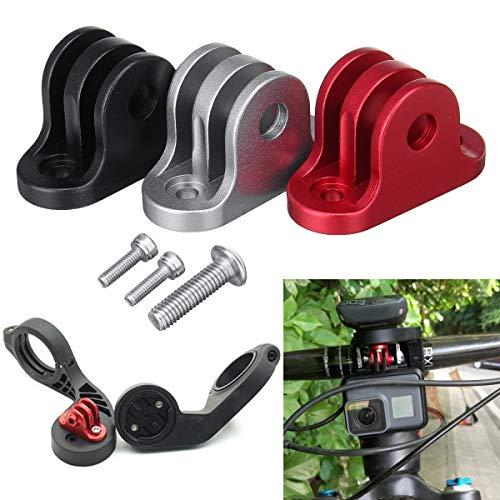 LMIAOM Soporte del Adaptador de Montaje de cámara en Bicicleta Manillar de la Bici del Ordenador for GoPro Garmin Edge/Bryton Ordenador Herramienta de reparación de Piezas de Accesorios