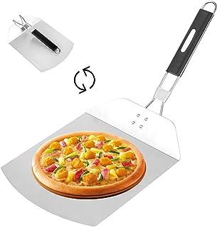 O-Kinee Pelle à Pizza, Pelle à Pizza Inoxydable, Planche à Pizza Aluminium, Spatule Cuisson, Elévateur à Pizza et à Tarte,...