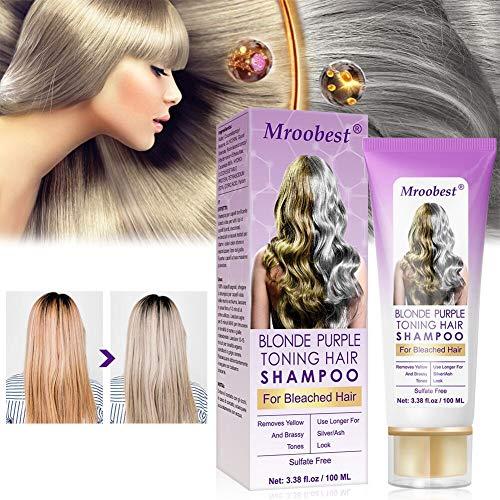 Purple Shampoo, No Yellow Shampoo, Purple Shampoo for Blonde Hair, Brassy, Silver & Color Treated Hair Moisturizer, Bleached & Highlighted Hair, Bleached Hair Toner