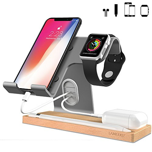 LAMEEKU Apple Watch and iPhone Stand