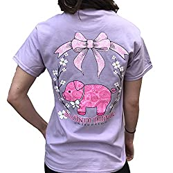 Southern Attitude Pig Orchid Cute Preppy Southern Animal Short Sleeve Tee Shirt